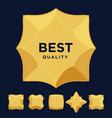 gold star medal award best quality flat design set vector image