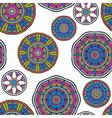 Acid color ethnic tribal mandala seamless pattern vector image