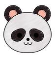 cute little bear panda character vector image