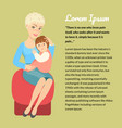 a child with down syndrome on his mothers lap vector image