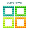 abstract cteative square jewelry frames consisting vector image vector image