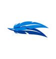 abstract feather design icon logo vector image vector image