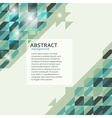 Abstract geometric background in green tones vector image