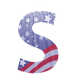 american letter S vector image vector image