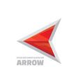 arrow - logo template concept vector image