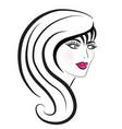 beautiful woman hair salon vector image