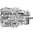 best recipes pumpkin pie bars text word cloud vector image vector image
