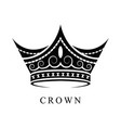 black crown logo 01 vector image