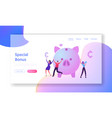 bonus card and loyalty program website landing vector image vector image