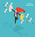 business protection flat isometric low poly vector image