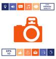 camera symbol icon vector image