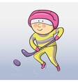 cartoon hockey player vector image
