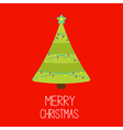 Christmas tree with lights Merry Christmas card vector image vector image