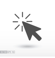 Click flat icon vector image vector image