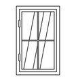 closed window icon outline vector image vector image