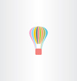 colorful parachute logo icon vector image vector image