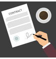 Contract Sign Up vector image vector image