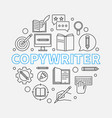 copywriter round made with vector image vector image