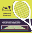 courts of tennis sport with racket vector image