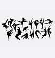 dancer male and female silhouettes vector image vector image
