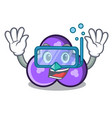 diving trefoil character cartoon style vector image
