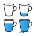 Empty and full mug vector image vector image