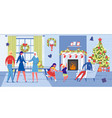 family generations celebrate christmas together vector image vector image