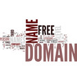free domain names text background word cloud vector image vector image