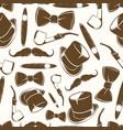getlemen seamlss pattern - vintage background vector image