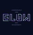 glow font alphabet vector image vector image