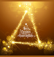 Gold Christmas Stars vector image vector image