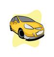 golden street city car vector image vector image