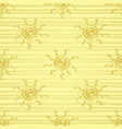 golden sun seamless pattern vector image