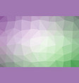 green purple polygonal which consist of vector image vector image