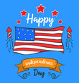 happy independence day style greeting card vector image vector image