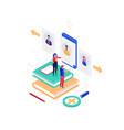 hr management - modern colorful isometric vector image vector image