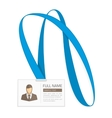 id card for businessman vector image vector image