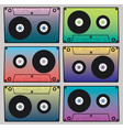 image color cassettes vector image