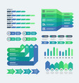 infographic elements modern graphs investment vector image vector image