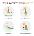 infographics - FOUR WAYS TO BE HEALTY vector image vector image