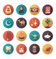 Islamic culture icons set vector image vector image