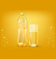juice bottle and glass vector image vector image