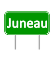 Juneau green road sign vector image vector image