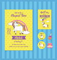 magical time birthday invitation card template vector image vector image
