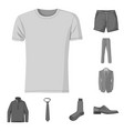 man and clothing symbol vector image vector image