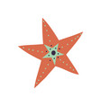 marine or ocean starfish underwater creature vector image vector image