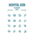 medical medicine hospital icon set vector image vector image