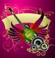 music banner design vector image vector image