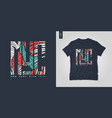 new york city t-shirt design poster vector image