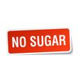 no sugar square sticker on white vector image vector image